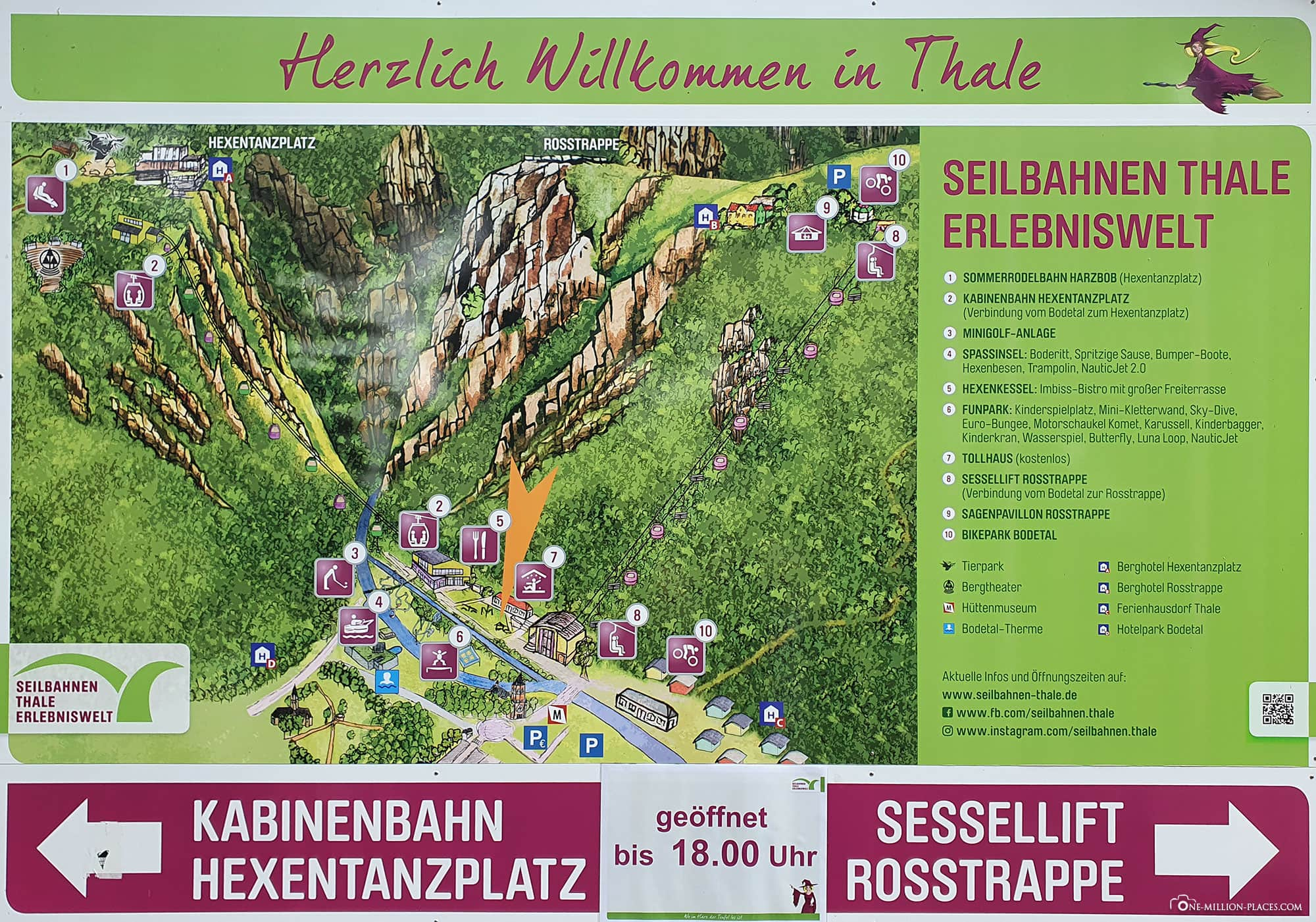 Map, Plan, Adventure World Thale, Bodetal, Travelreport, Saxony-Anhalt, Germany, Blog