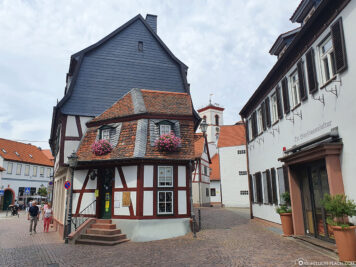 Half-timbered house in the old town