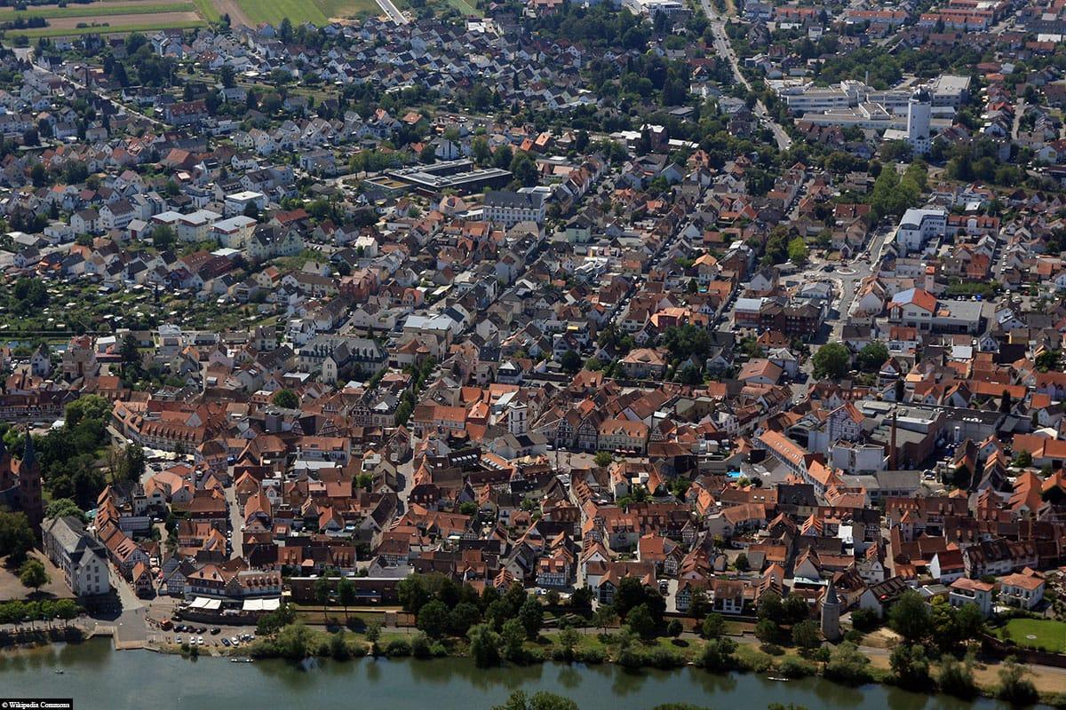 Seligenstadt, Main, Hesse, Germany, Aerial Photo, Drone Photo, Travelreport