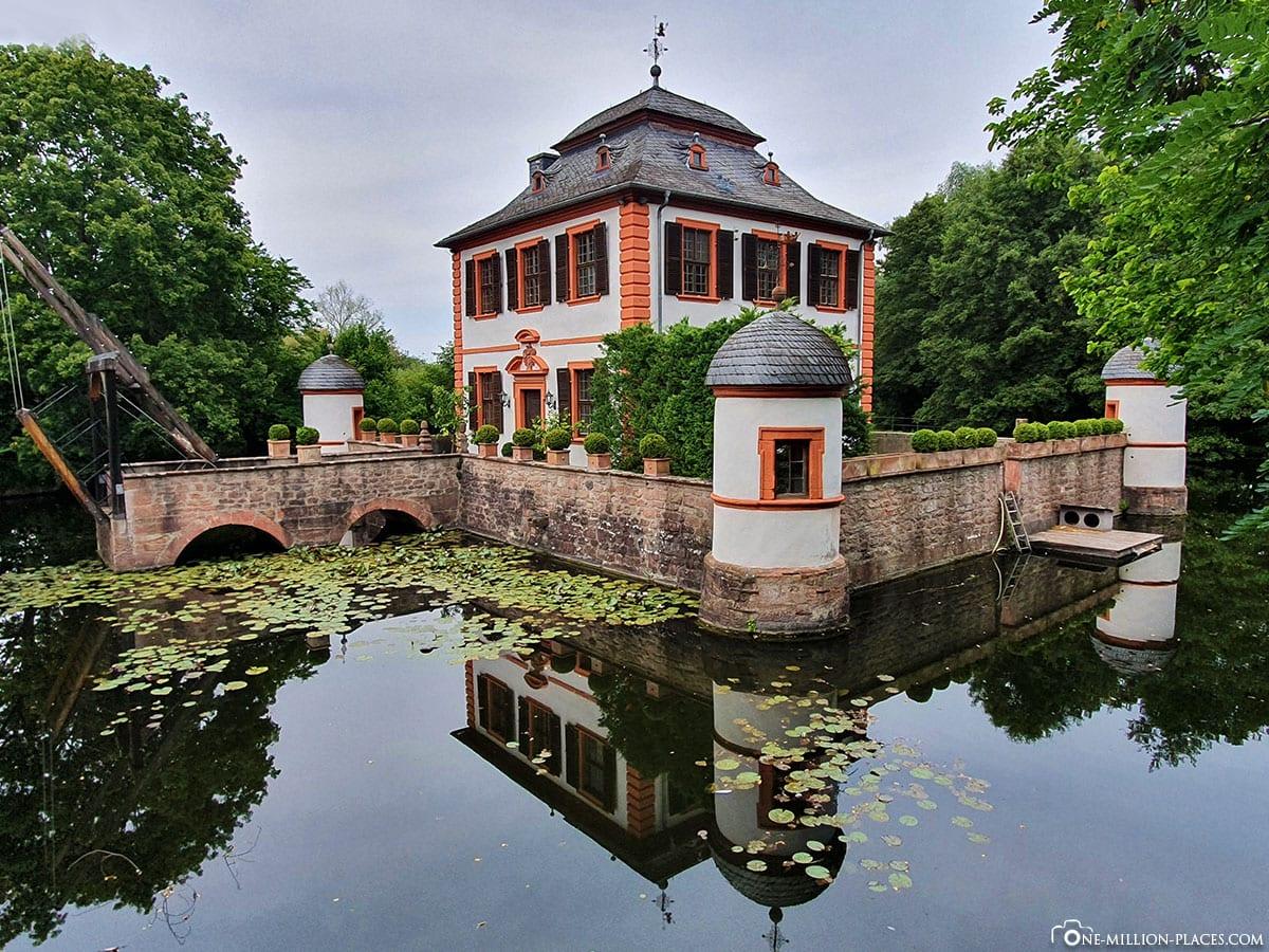 Seligenstadt, Wasserburg Klein-Welzheim, Sights, Travelreport, Blog