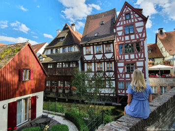 View of the Fisherman's Quarter in Ulm