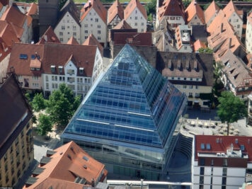 Glass pyramid of the Ulm Central Library