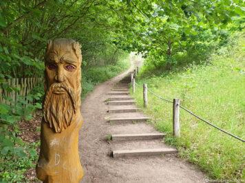 Treppenweg hinauf zum Königstein