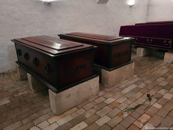 Coffins of Goethe and Schiller