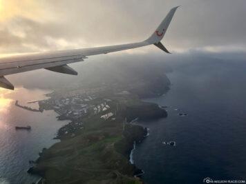 Anflug auf Madeira