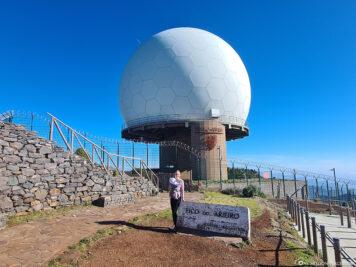 Die Radarstation auf 1810 Metern