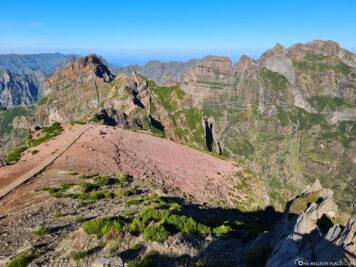 Blick auf das Zentralgebirge von Madeira