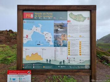 Eine Karte der Wanderwege