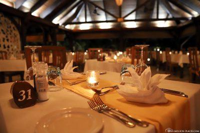 The restaurant Les Boucaniers