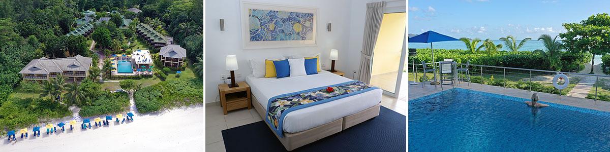 Acajou Beach Resort Praslin Seychellen Headerbild