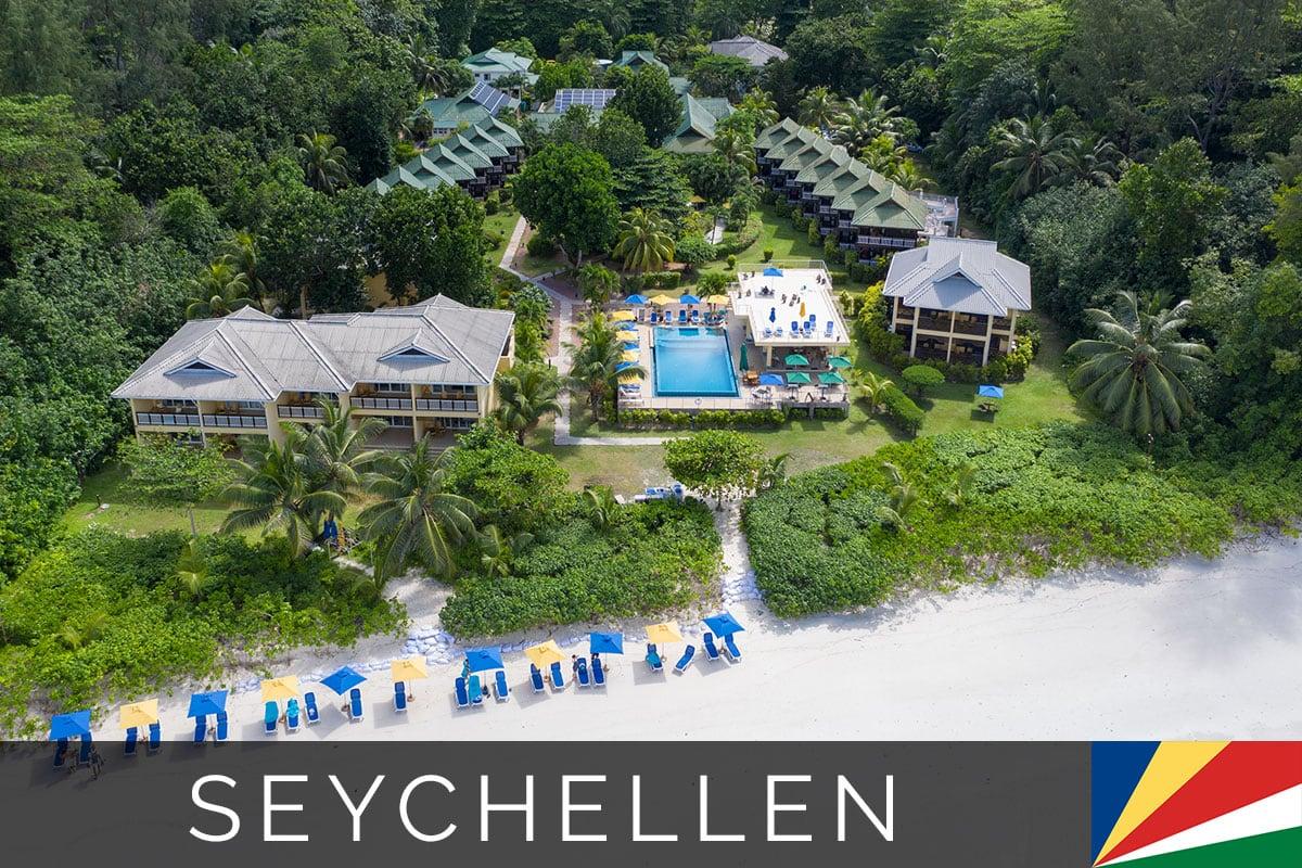 Acajou Beach Resort Praslin Seychellen Titelbild