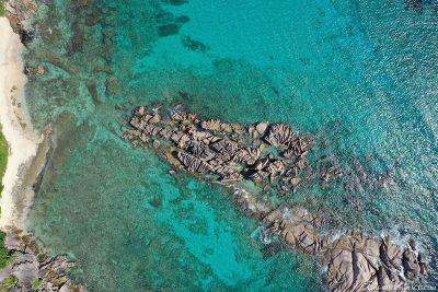 Granite rocks in the sea