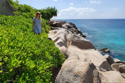Hike along the east coast of La Digue