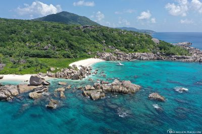 The southern tip of La Digue