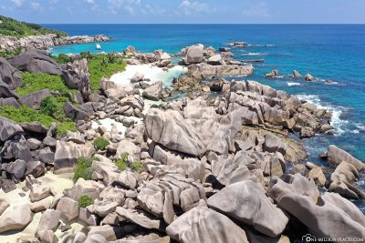 Drone footage from Anse Marron