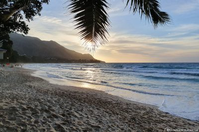 Sunset at Beau Vallon Beach