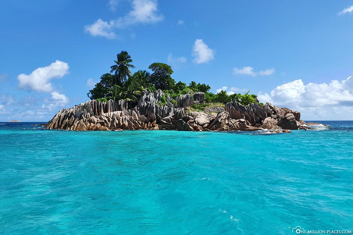 St. Pierre, Insel, Seychellen, Praslin, Ausflug, Boot, Reisebericht