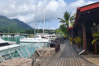 Die Marina auf Eden Island