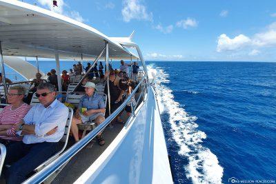 By ferry to Praslin