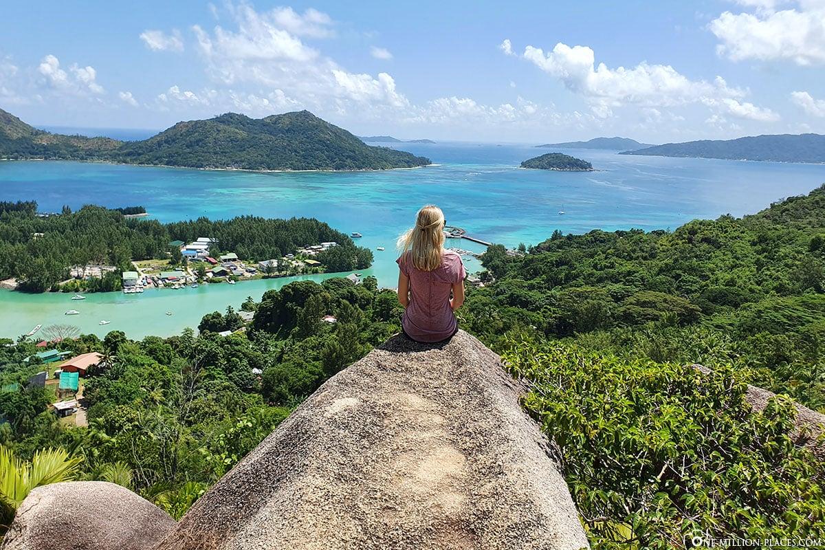 Aussichtspunkt, Aussichtspunkt, Fond Ferdinand, Ausblick, Insel Praslin, Seychellen, Reisebericht