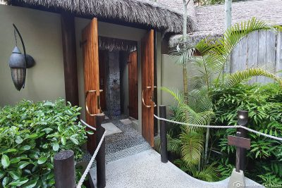 Der Eingang zu unserer Villa de Charme