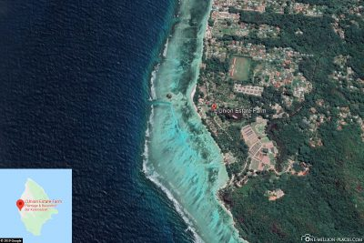 The location of the L'Union Estate on La Digue
