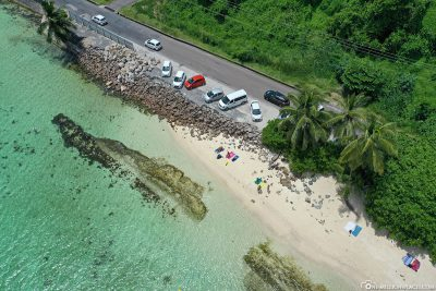 The car park at Anse Royale