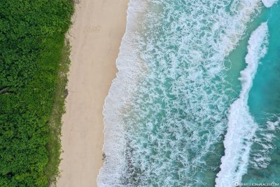 Drone footage from the beach