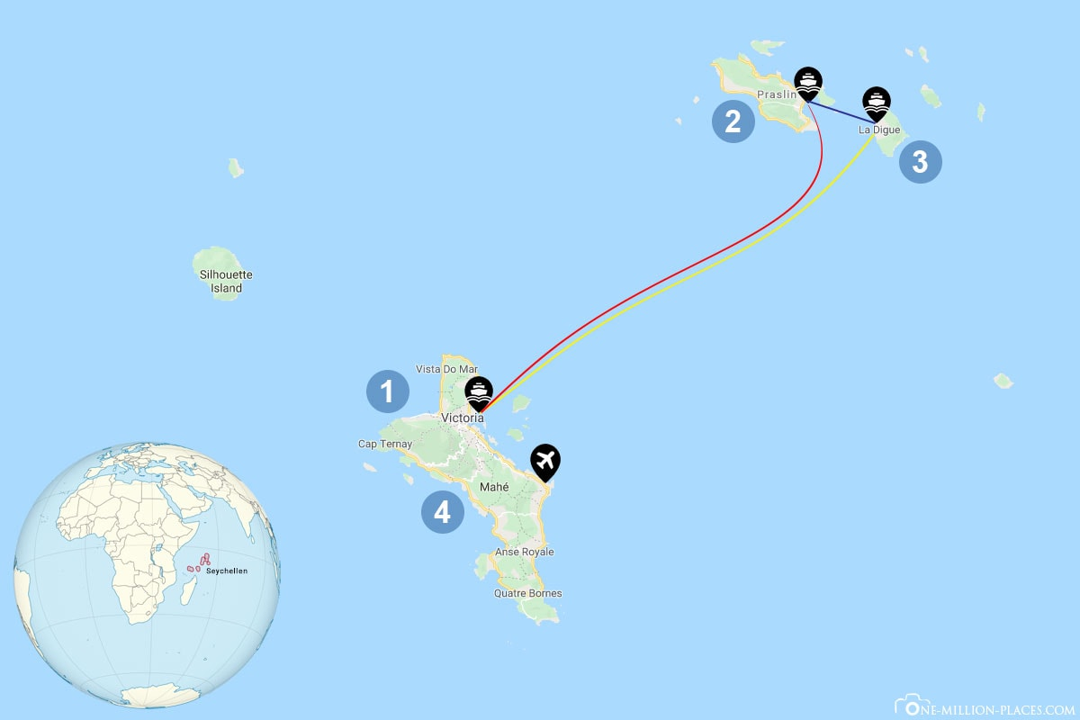 Reiseplanung Inselhüpfen Seychellen