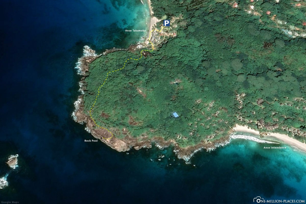 Wanderweg, Rock Pool, Karte, Mahe, Seychellen, Plan, Reisebericht