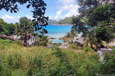 View back to the Anse Takamaka