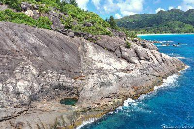 Der Blick entlang der Küste nach Norden