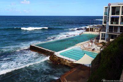 Rock Pool at Bondie Beach in Sydney