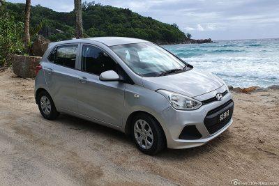 Our car rental on Mahé