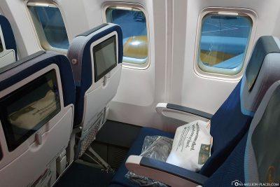 Die Sitze in der Economy Class