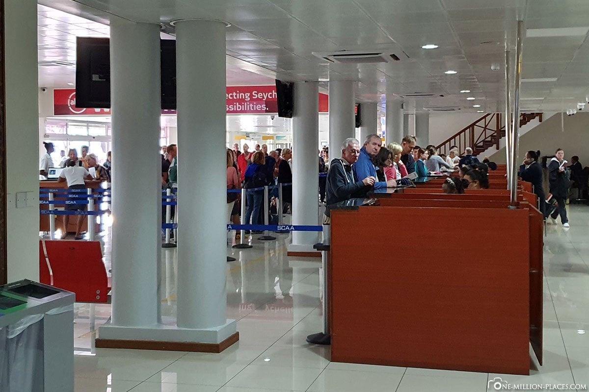 Immigration, Seychellen, Flughafen Mahé, Erfahrungen, Reisebericht