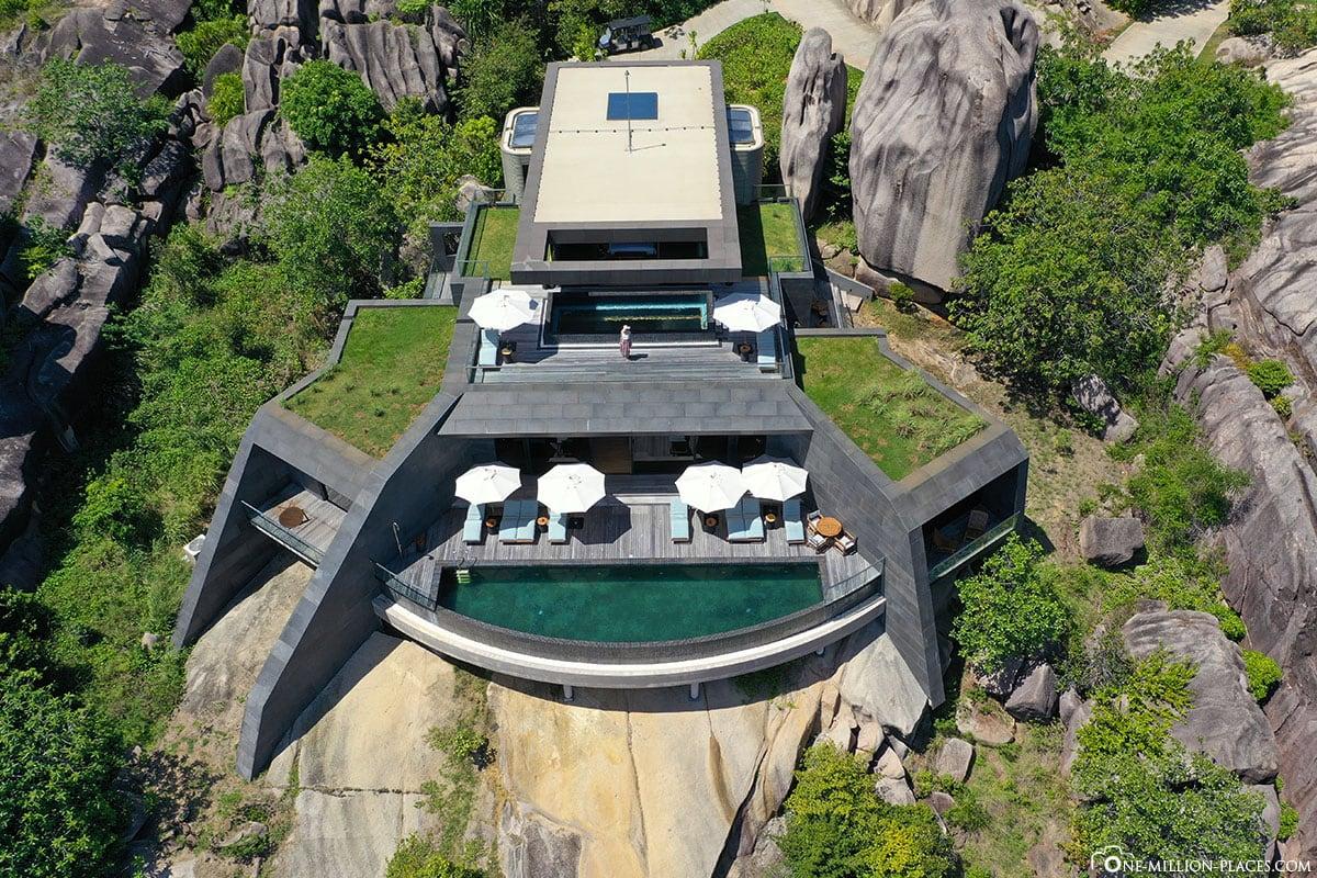 Residence, Six Senses Zil Pasyon, Felicite Island, Seychellen, Reisebericht