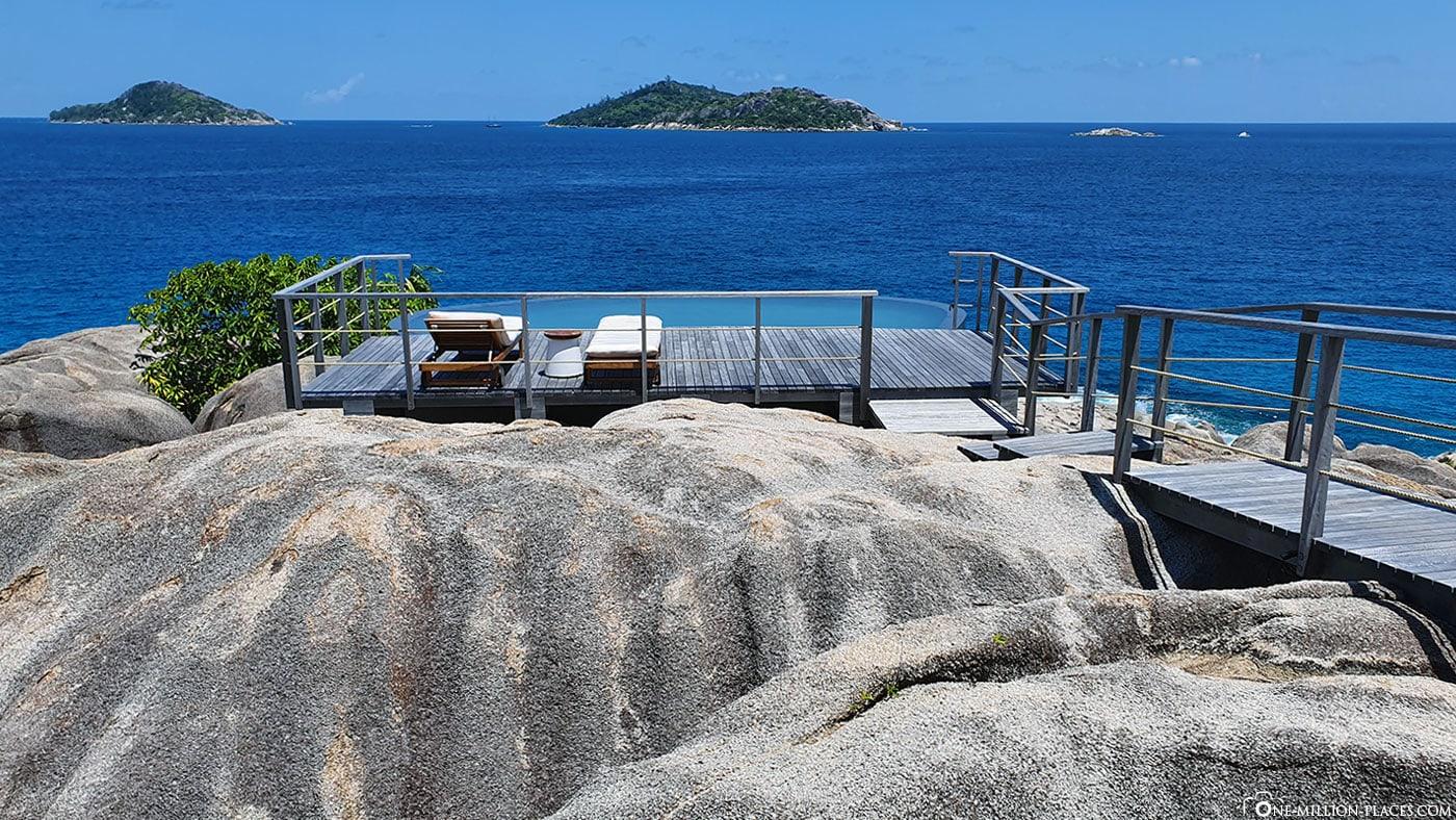 Spa, Pool, Six Senses Zil Pasyon, Felicite Island, Seychellen, Reisebericht