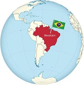 Brazil Globe