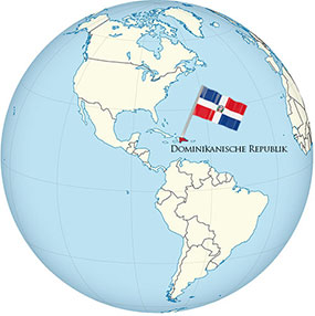 Dominican Republic Globe