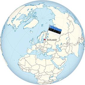 Estland Globe