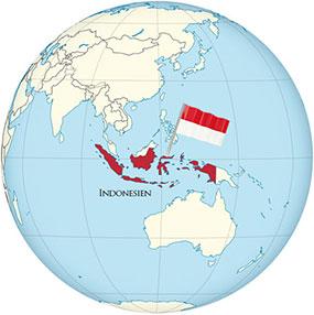Indonesien Globe