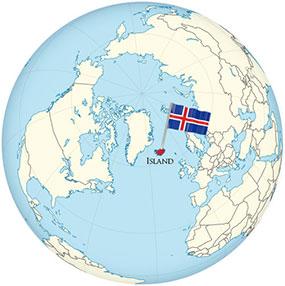 Iceland Globe