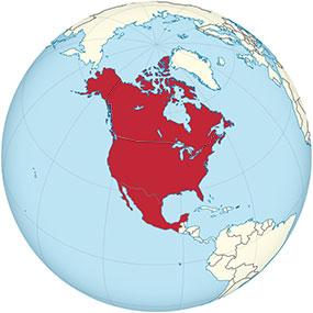 Nordamerika Globe