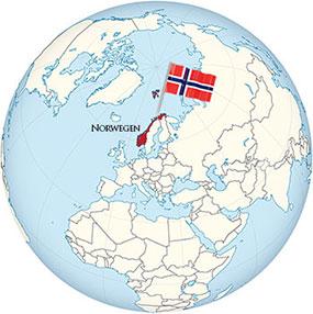 Norwegen Globe