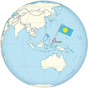 Palau Globe