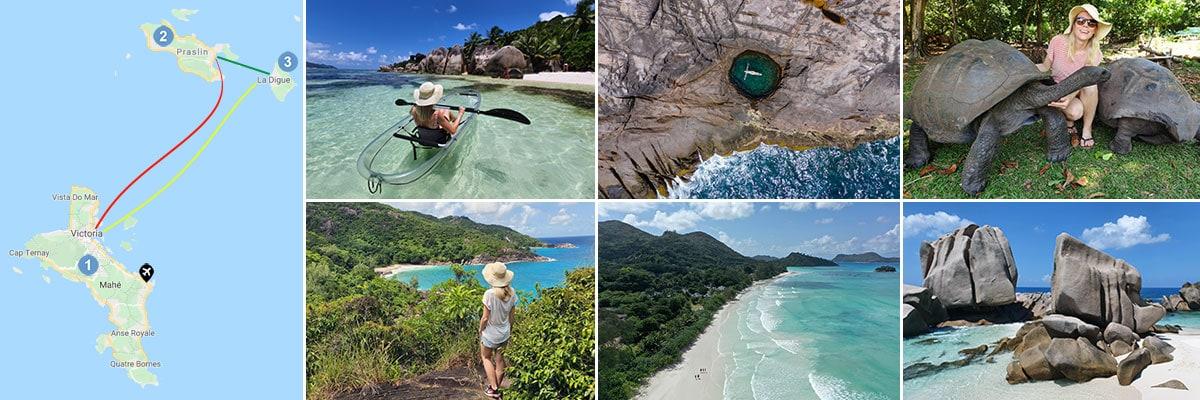 Route Seychellen, Mahe, Praslin, La Digue, Kombination, Reisebericht